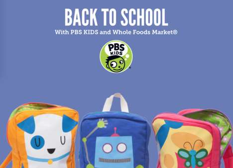 Charitable Back-to-School Supplies - The Whole Foods Market x PBS KIDS Campaign Benefits Young Minds