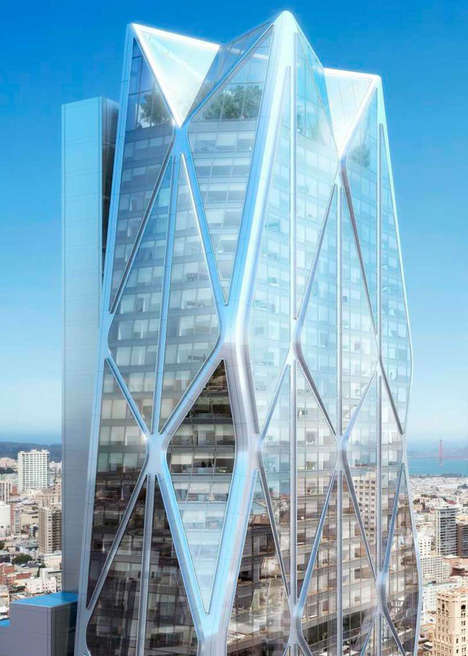 Faceted Glass Skyscrapers - Foster + Partners Will Design Crystalline Twin Skyscrapers in California
