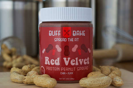 Cake-Flavored Nut Spreads - This Flavored Peanut Butter from Buff Bake Tastes Like Red Velvet Cake
