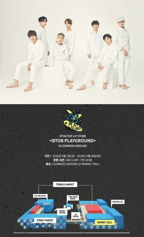 K-Pop Retail Oulets - The BTOB PLAYGROUND Pop-Up Celebrates the Korean Group BTOB