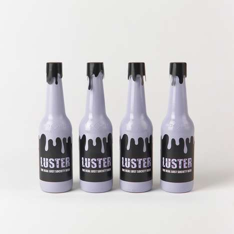 Witchy Alcohol Branding - Luster Beer Focuses on the Adult Entertainment Element of Intoxication