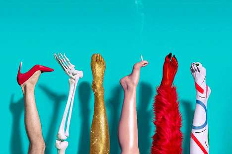 Cartoon-Like Party Photography - This Artsy Photo Shoot Focuses on the Diverse Legs of Its Subjects
