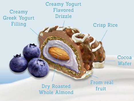 Layered Nut Snacks - Nutster's Covered Almond Snacks are Embedded in Yogurt, Rice Crisps and More