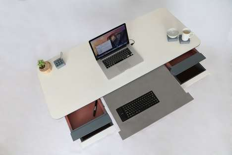 Modular Personalized Desks - The Antro Desk Allows Users to Customize the Layout of Their Workspace