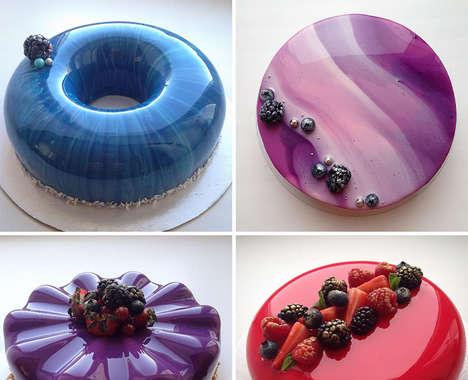 Glass-Finish Cakes