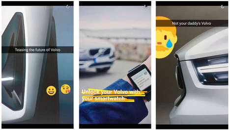 Social Media Vehicle Teasers - The New Volvo XC40 was Teased by the Brand on its Snapchat Channel