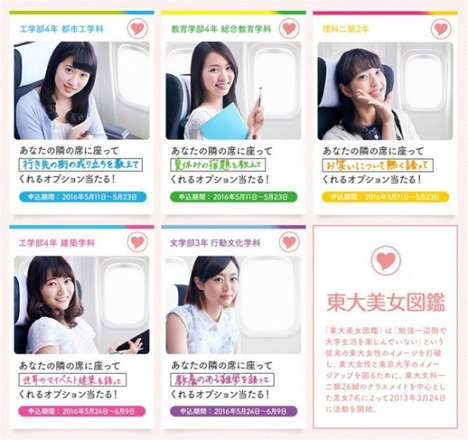 Controversial In-Flight Entertainment - Japanese Travel Agency H.I.S. Offered Pretty Seatmates