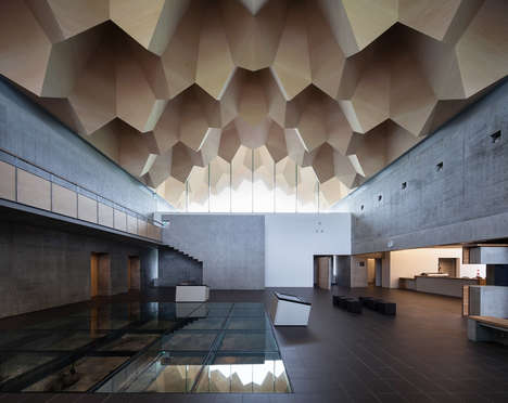 Multifaceted Museum Roofs - This Museum Was Designed to Look Like the Interior of a Cave