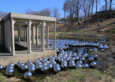 Steel Ball Art Installations - This Artist Created a Steel Art Installation Inspired by Narcissus
