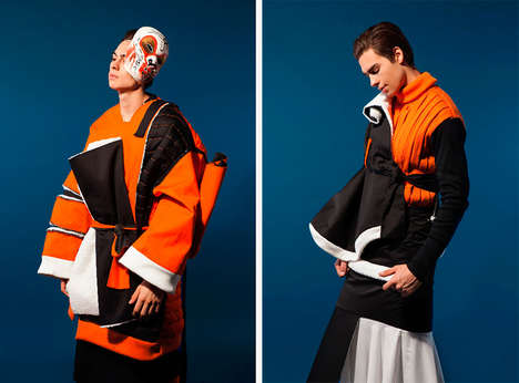 Theatrical Outerwear Collections - Natasha Nadya's Graduate Collection Spotlights Oversized Knits