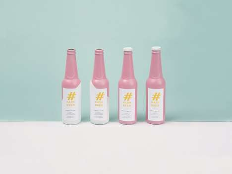 Social Media-Inspired Beer - Hash Beer Feminizes Such Packaging for Its to be More Instagrammable