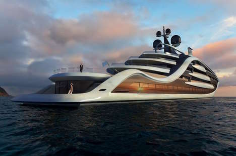 Extravagant Yacht Designs - This Unique Yacht Features Interesting Concepts, Including a Bridge