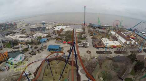 POV Coaster Unveiling Videos - The Cedar Point Valravn Roller Coaster POV Video is Immersive