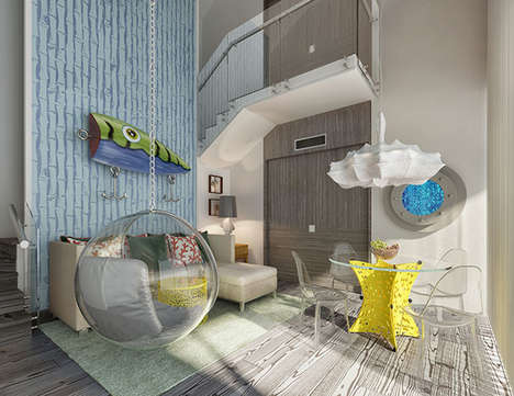 Children's Luxury Villas - The 'Pineapple Villa' is Inspired by the Classic Kid's Show Spongebob