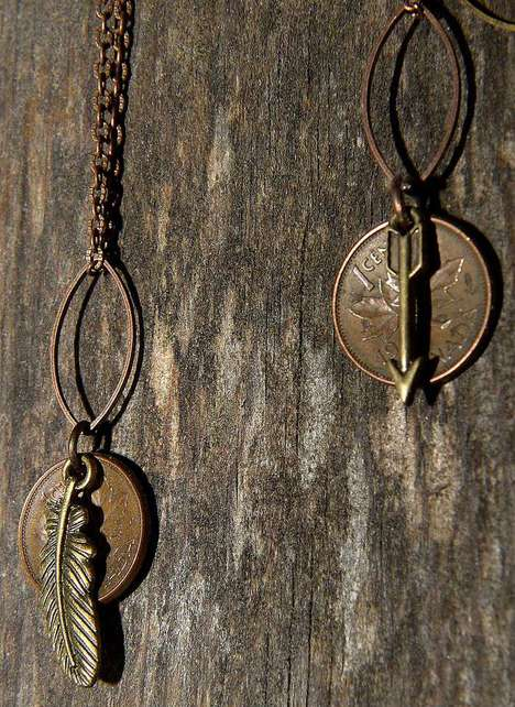 Lucky Penny Jewelry Pieces - DBL Designs Turn Pennies into Fashionable Jewelry