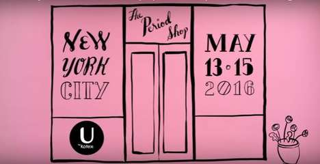 Period Pop-Up Shops - U by Kotex Was Inspired to Open the Period Shop from a Tumblr Post