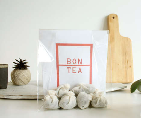 Cotton-Crafted Tea Packaging - Bon Tea Packages Its Products in Fabric Tea Bag Vessels