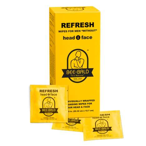 Bald Head Wipes - 'Bee Bald's Refreshing Wipes are Designed for Faces and Bald Heads