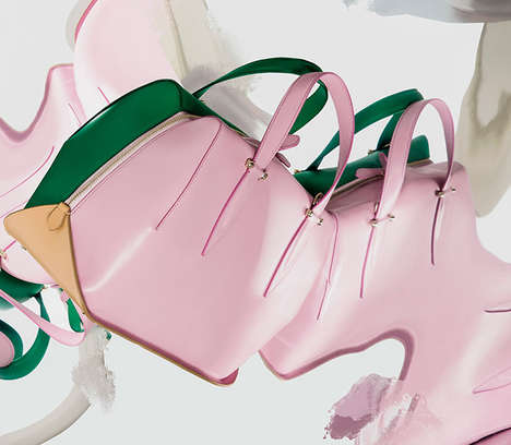 Sherbet Accessory Collections - The Latest Delpozo Handbag and Shoe Collection is Vibrantly Hued