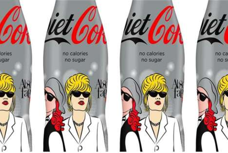 Sitcom-Inspired Soda Cans - The New Diet Coke Cans Feature Characters from 'Absolutely Famous'