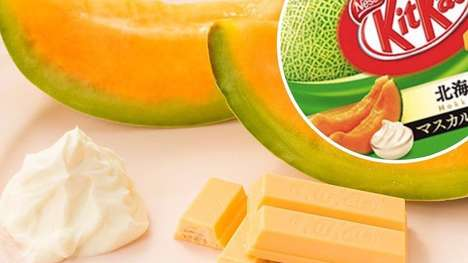 Mascarpone Melon Chocolates - This Unconventional Kit Kat is Hokkaido Melon and Cheese-Flavored