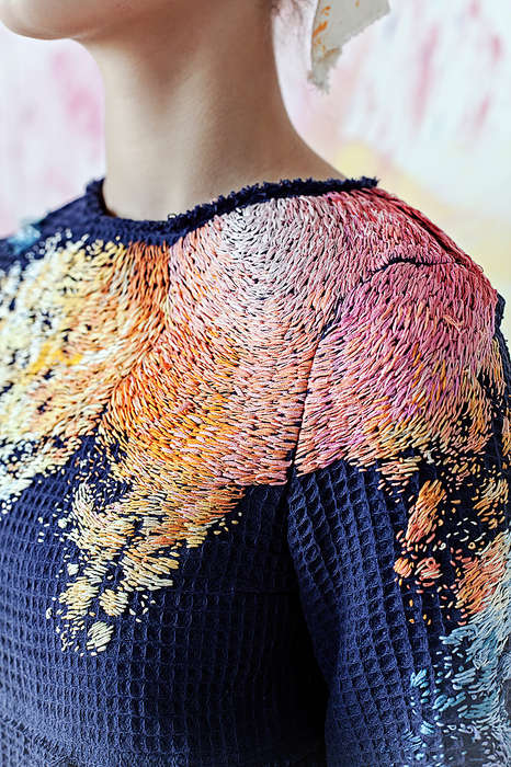 Paint-Inspired Embroidered Fashion - Olya Glagoleva's Artist At Home Collection is Coloful