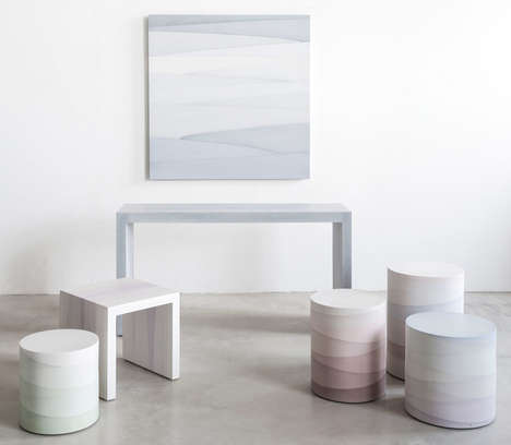 Gradient Cement Furniture - Fernando Mastrangelo's Motar Movables Opt for a Contrasting Pastel Hue