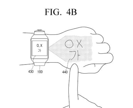 Projected Smartwatch Screens