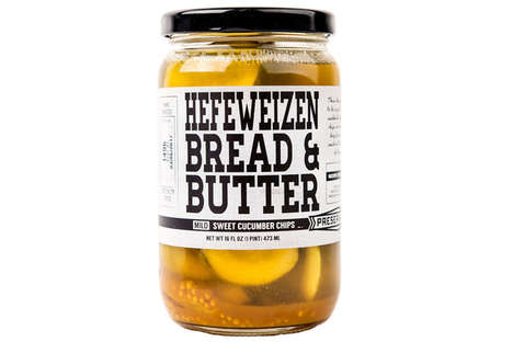 Toast-Flavored Pickles - The Hefeweizen Pickles Offer a Taste Inspired by Bread and Butter