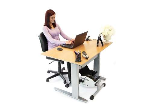 Exercising Desk Footrests - The DeskCycle Encourages Healthy Workouts While Sitting Stationary