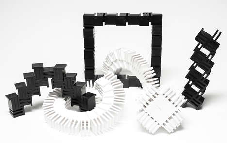 Slot-Connecting Building Blocks - The Boulding Blocks Offer Infinite Construction Opportunities