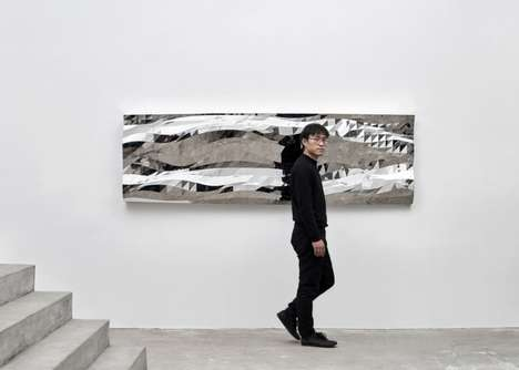 Meshed Algorithm Mirrors - Zhoujie Zhang's Distorted Mirror is Designed Using Digital Processes