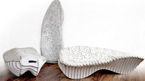 Biodegradable Fungi Chairs - The Terreform ONE Seat is Temporal With a Make of Compostable Mushrooms