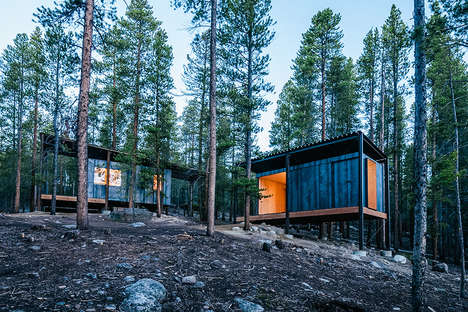 Educational Micro Cabins - The Outward Bound Colorado Chalets Feature a Small-Scale Container Shape