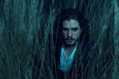 Nighttime Hearthrob Editorials - Kit Harington Channels a Brooding Outdoor Persona for L'Uomo Vogue