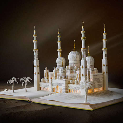 Folkloric Book Sculptures - Su Blackwell Transforms Novel Pages into 3D Fairytale Locations