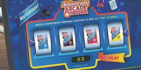 Gamified Beverage Promotions - Nurishment Original's 'Anniversary Arcade' Contest Offers Tech Prizes