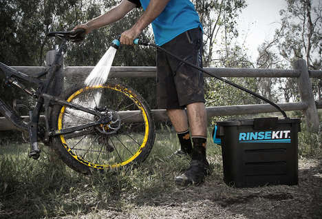 Portable Shower Pressure Washers - The 'RinseKit' Provides a Powerful Blast of H2O Anywhere