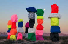 Vibrant Rock Installations