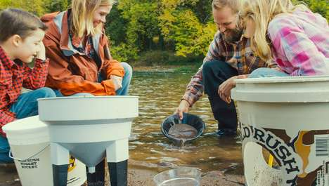 Riverbed Gold-Finding Kits - The Gold Rush Nugget Bucket Gold Panning Kit is Suitable for All Ages