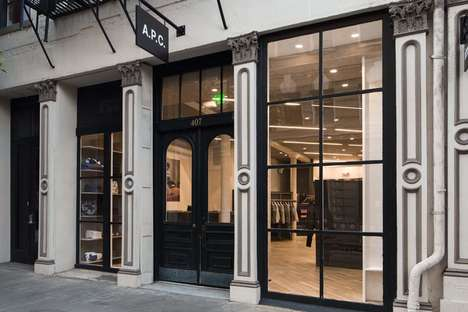 French Contemporary Flagships - The APC San Francisco Store is Located in the Jackson Square Area