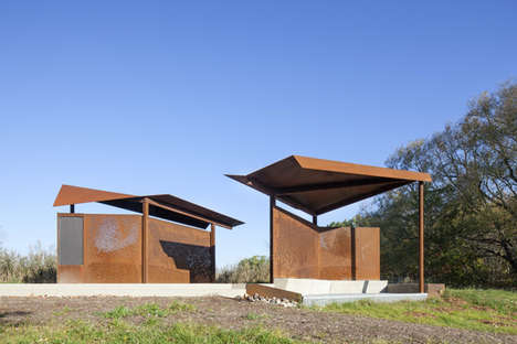 Bird-Watching Pavilions - This Pavilion Art Project is Part of a Bird Protection Initiative