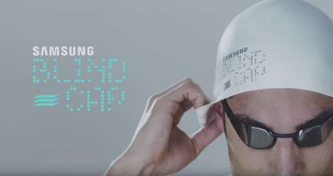 Smart Swimming Caps - Samsung 'Blind Cap' Uses Vibrations to Connect Blind Swimmers and Coaches