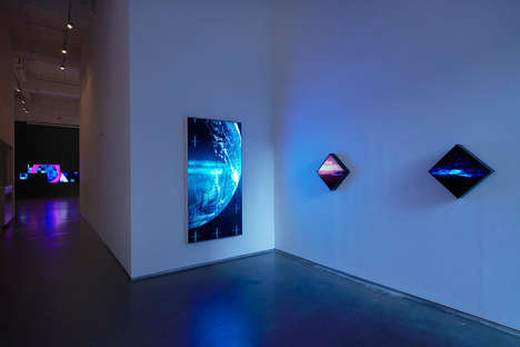 Digital Landscape Art Exhibits - Yorgo Alexopoulos Uses Digital Art to Represent the Natural World