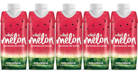 Antioxidant-Rich Watermelon Waters - The 'What a Melon' Line Provides a Healthy Alternative to Juice