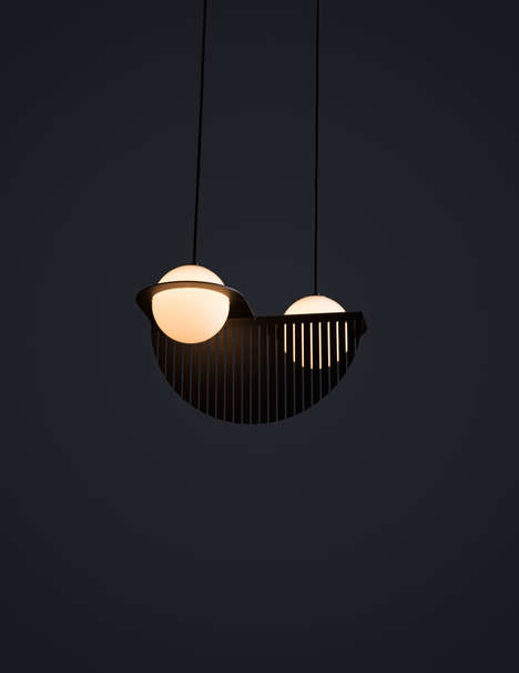 Dual Sphere Lighting - Laurent by Lambert & Fils is a Sculptural and Functional Fixture