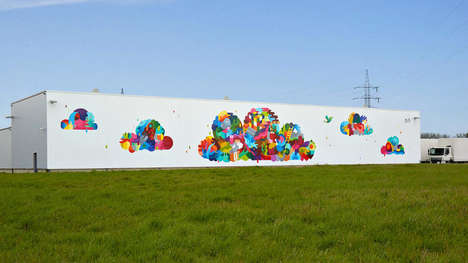 Artist-Decorated Data Centers - The Data Center Mural Project Turns Big Buildings into Works of Art