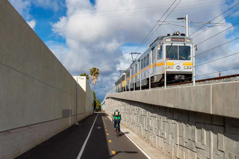 Coastal Public Transit Lines - The Expo Line Will Now Take Passengers from LA Straight to the Beach