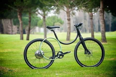Circular Cycle Frames - The Caminade Bicycle Opts for Curved Frame With a Dual Electric Engine
