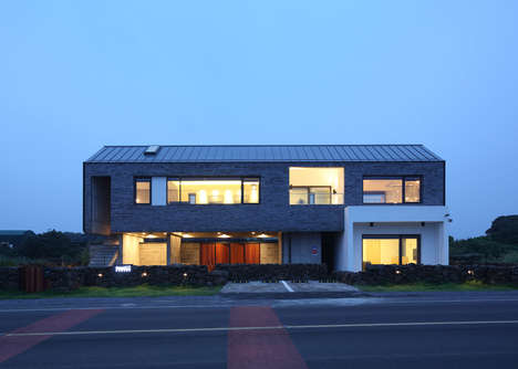 Volcanic Holiday Homes - This Wilderness Abode is Constructed Using Stone From Jeju Island